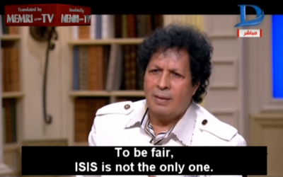 Former Libyan intelligence official Ahmad Qadhaf Al-Dam appears on Egyptian Dream2 TV on January 18, 2016. (screen capture: YouTube)