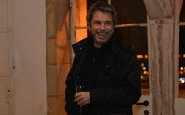 Jean Michel Jarre during his visit to Israel, January 6, 2016 (Courtesy Jean Michel Jarre)