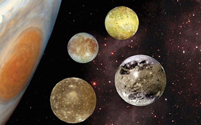 Jupiter and the Galilean moons (NASA)