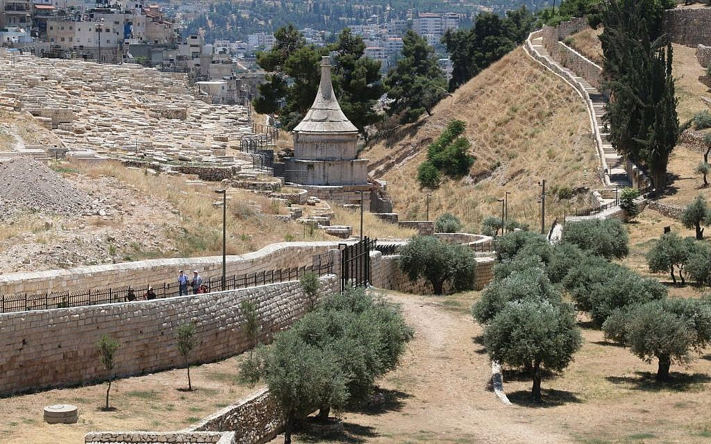 Looking down into the Kidron Valley, Jerusalem (Shmuel Bar-Am)