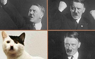 The Nazi leader and one of his feline doppelgängers. (CC BY SA 3.0 Bundesarchiv Bild 102-10460)