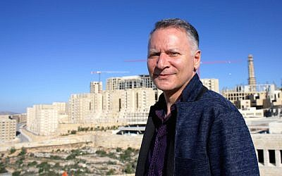 Bashar Masri is the developer behind Rawabi, the first planned Palestinian city. (Yardena Schwartz/JTA)