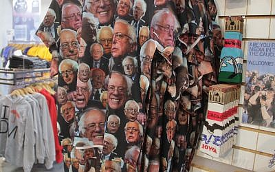 A Bernie Sanders T-shirt on sale at Raygun, a popular clothing store in Des Moines, Iowa. (Josh Tapper)