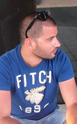 Shimon Ruimi, 30, from the southern town of Ofakim, had traveled to Tel Aviv for a friend's birthday when he was killed in a shooting attack in the city on January 1, 2016 (photo via Facebook)