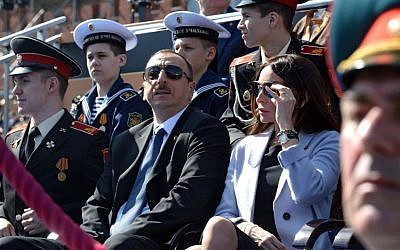 President Ilham Aliyev during the Moscow Victory Day Parade, 9 May 2015 (Kremlin.ru / Wikipedia)