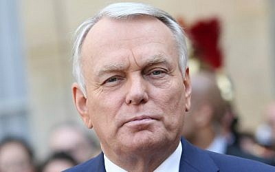 France's then-prime minister Jean-Marc Ayrault leaving the Hotel Matignon on April 1, 2014 in Paris. Ayrault was named new foreign minister on February 11, 2016. (Kenzo Tribouillard/AFP)