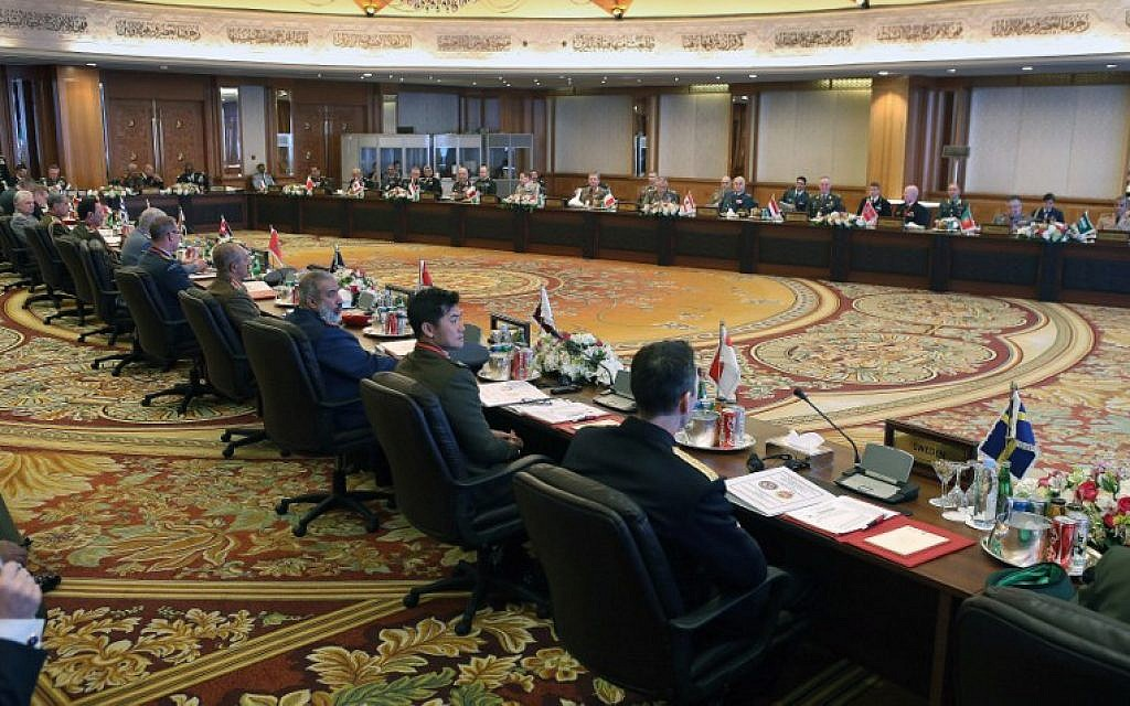 Chiefs of staff of the countries which are part of the international US-led coalition against the Islamic State group, attend a meeting to discuss the situation in the region on February 22, 2016 in Kuwait City. (AFP / YASSER AL-ZAYYAT)