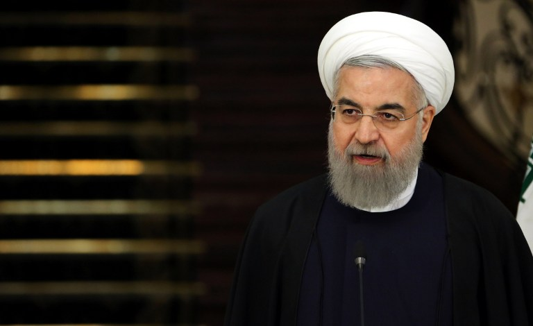 Iranian President Hassan Rouhani speaks during a press-conference in the capital Tehran, February 27, 2016. (AFP/ATTA KENARE)