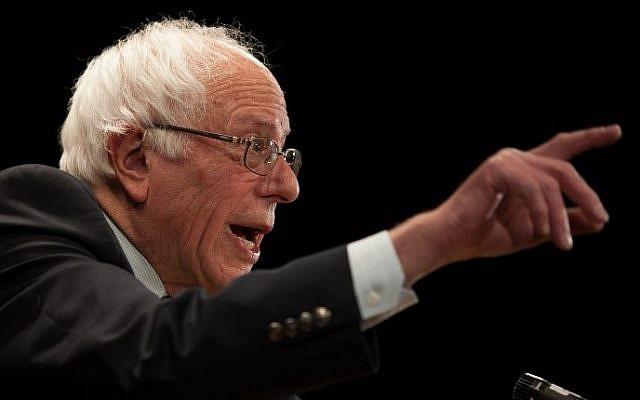 Democratic presidential candidate Sen. Bernie Sanders speaks in Claremont, New Hampshire on February 2, 2016 (Matthew Cavanaugh/Getty Images/AFP)