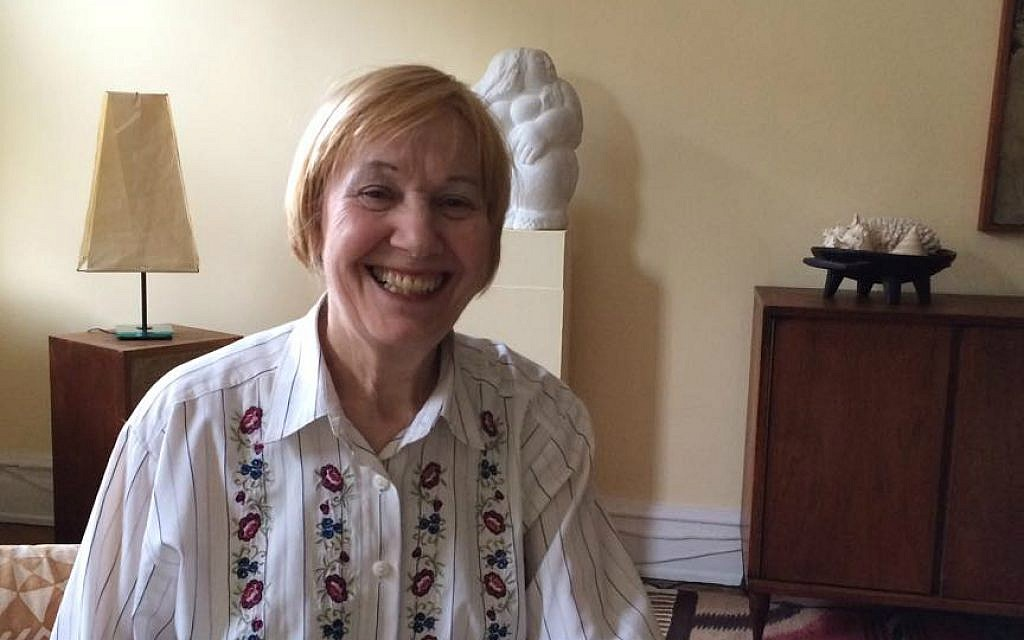 Yiddish court translator Ruth Kohn at her Manhattan home, February 2016. (Renee Ghert-Zand/The Times of Israel)