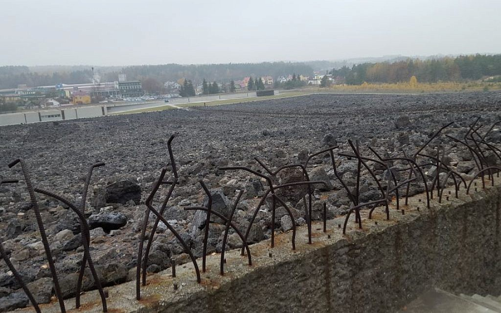 The former German Nazi death camp Belzec, in southeast Poland, November 2015 (Matt Lebovic/The Times of Israel)