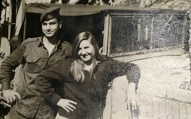 Ruth Kohn (right) during her IDF service in the mid-1960's. (Courtesy)