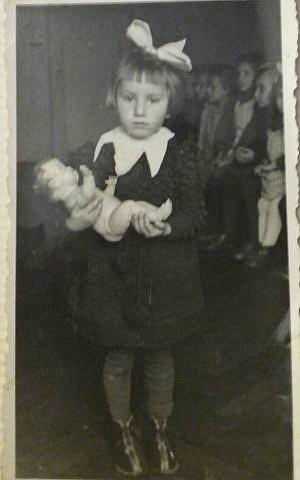 Ruth Kohn, age 4, in photo taken at her Polish nursery school. (Courtesy)