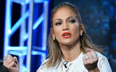 "Jennifer Lopez participates in the ""American Idol"" panel at the Fox Winter TCA on Friday, Jan. 15, 2016, Pasadena, Calif. (Richard Shotwell/Invision/AP)"