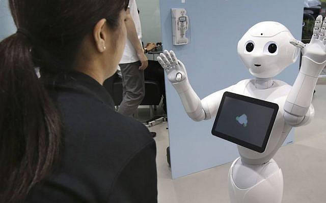 A humanoid robot at a demonstration in Tokyo, Japan. Illustrative photo (AP Photo/Koji Sasahara)