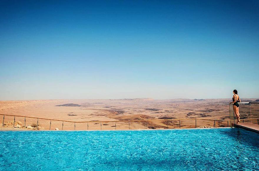 The View From Swimming Pool Of Beresheet Hotel In Mitzpe Ramon Israel Facebook