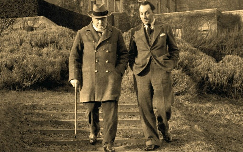 Winston Churchill and Stefan Lorant, 1939. Detail from front cover of 'Jews and Photography in Britain.' (Kurt Hutton/Hulton Archive/Getty Images)