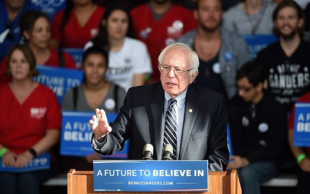 Democratic presidential candidate Sen. Bernie Sanders (D-VT) gives a concession speech in Henderson, Nevada, on February 20, 2016. (Ethan Miller/Getty Images)