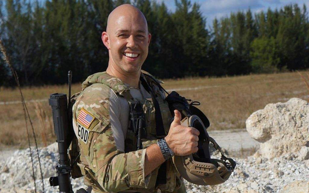 US Congressional candidate Brian Mast was a US Army bomb disposal expert serving under the Joint Special Operations Command. Both his legs were blown off by an IED in Afghanistan in September 2010. (Courtesy of Mast for Congress)