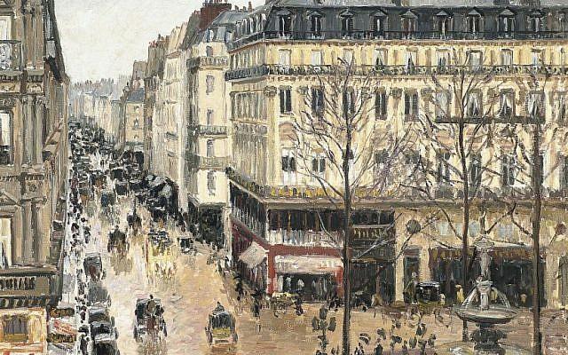 Rue Saint-Honore, Apres-midi, Effet de Pluie by Camille Pissarro (Public domain, via Wikimedia Commons)