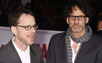 Director/producer/writers Ethan Coen (L) and Joel Coen arrive at the Premiere Of Universal Pictures' 'Hail, Caesar!' at Regency Village Theatre on February 1, 2016 in Westwood, California. (Jeffrey Mayer/WireImage via JTA)