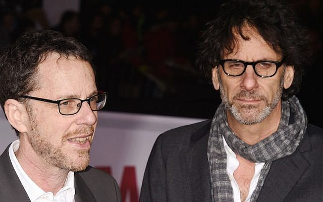"Ethan Coen, left, and Joel Coen arriving at the premiere of ""Hail, Caesar!"" at the Regency Village Theatre in Westwood, Calif., Feb. 1, 2016. (Jeffrey Mayer/WireImage/JTA)"
