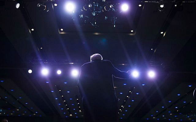 Democratic presidential candidate Sen. Bernie Sanders, I-Vermont, speaks during a canvass kick-off event at the Reno Sparks Convention Center, Saturday, Feb. 13, 2016, in Reno, Nevada. (AP Photo/Evan Vucci)