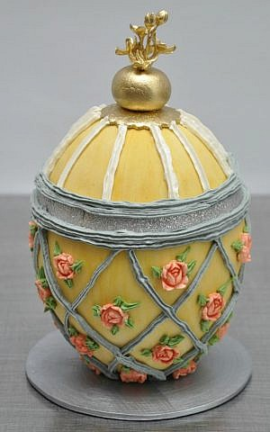 Sylvia Weinstock has created miniature cakes resembling Faberge eggs. (Courtesy)