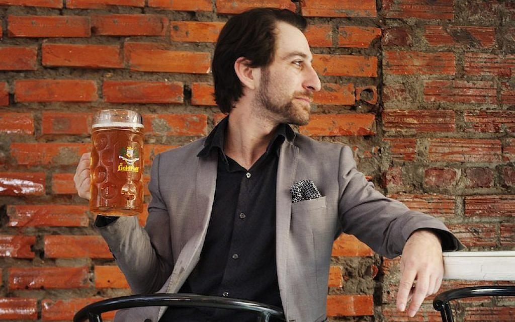 "Israeli chef Shahar Lubin, owner of Daluva, a ""Middle Eastern gastropub"" in Hanoi, Vietnam. (Emily S. Adams/JTA)"