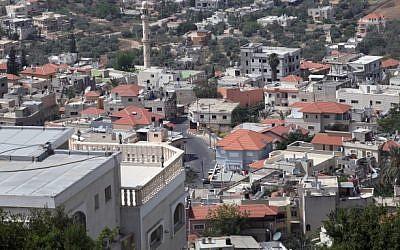 A view of Wadi Ara (Yossi Zamir/Flash90)