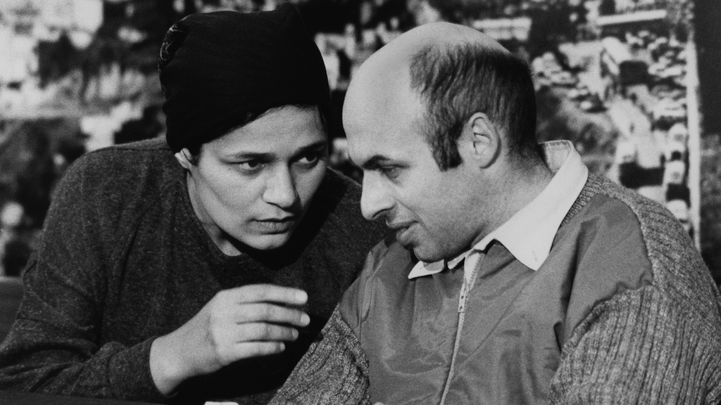 Former Soviet refusenik and prisoner, Israeli politician, human rights activist and author Natan Sharansky with his wife Avital after his release from prison in the Soviet Union in February 1986. (Moshe Shai/Flash90)