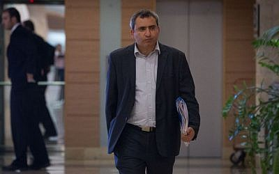 Immigrant Absorption Minister Ze'ev Elkin a the Knesset, December 8, 2014. (Miriam Alster/Flash90)