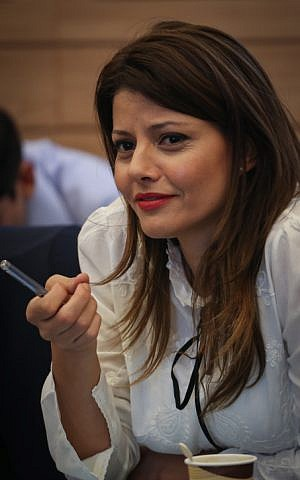 Orly Levy Avukasis take part in a Finance Committee meeting at the Knesset on June 22, 2015. (Hadas Parush/Flash90 )