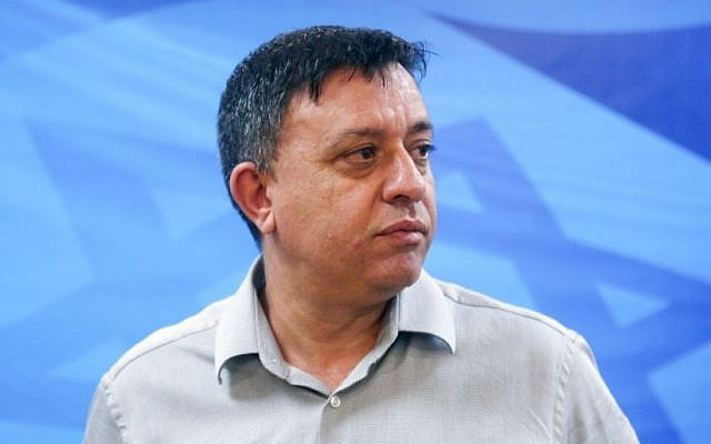 Environment Protection Minister Avi Gabbay (Marc Israel Sellem/Pool)