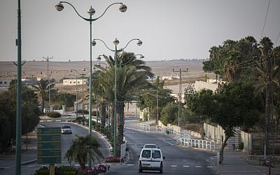 View of a road in Rahat on August 18, 2015. ( Hadas Parush/Flash90)