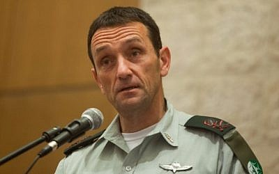 File: Israeli Southern Command chief Maj. Gen. Herzi Halevi in Jerusalem on November 2, 2015. (Flash90)