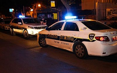 Illustrative photo of Israeli police cars (Moti Karelitz/Flash90)