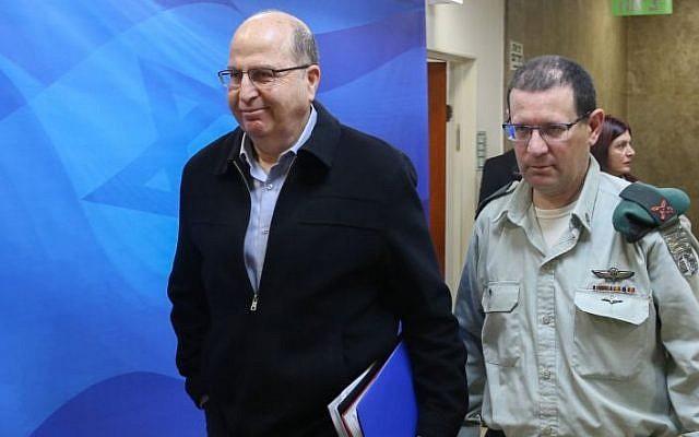 Moshe Ya'alon in Jerusalem on January 17, 2016. (Amit Shabi/POOL)