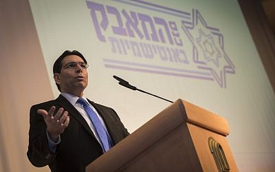 Danny Danon, speaks in Jerusalem on January 31, 2016. (Hadas Parush/Flash90)