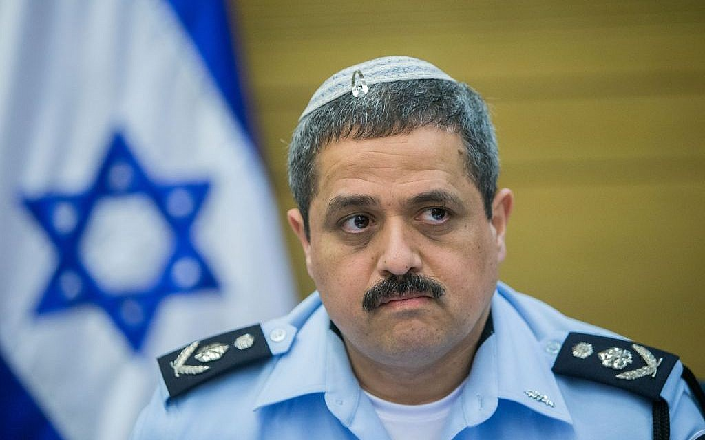 Israel Police Chief Roni Alsheikh attends a committee meeting in the Knesset on February 9, 2016 (Yonatan Sindel/Flash90)