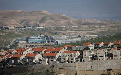 The city of Ma'ale Adumim, one of the largest Israeli settlements in the West Bank. (Yonatan Sindel/Flash90)