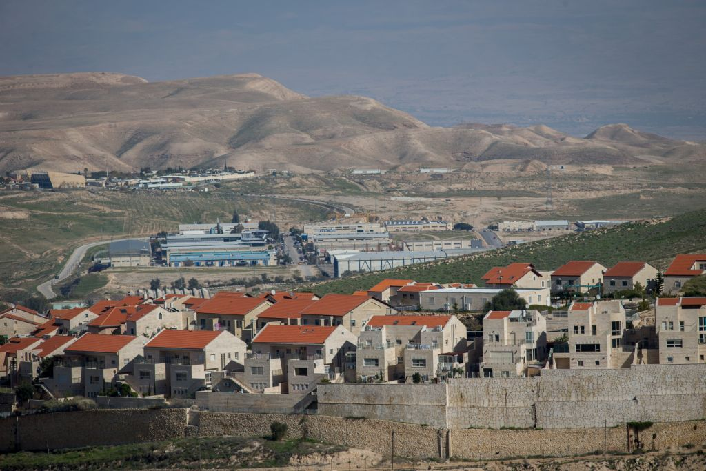 The city of Ma'ale Adumim one of the largest Israeli settlements in the West Bank