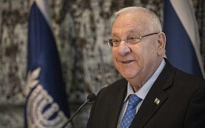 President Reuven Rivlin speaks at the President's residence in Jerusalem, on February 4, 2016 (Hadas Parush/Flash90)