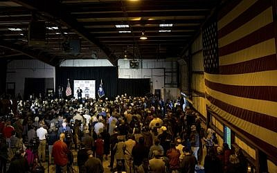 Republican presidential candidate Sen. Ted Cruz, R-Texas, speaks at a rally at Eagle Aviation Hangar in Columbia, South Carolina, Friday, Feb. 19, 2016. (AP Photo/Andrew Harnik)