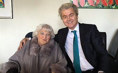 Geert Wilders and Diana Blog in Amsterdam, Feb. 15, 2016. (Courtesy of Geert Wilders via JTA)