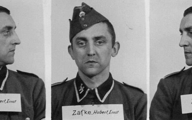 The undated photo provided by the Archive of the State Museum Auschwitz-Birkenau shows SS Oberscharfuehrer Hubert Zafke. (The Archive of the State Museum Auschwitz-Birkenau via AP)