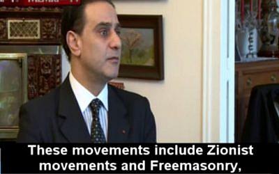 French politician Elie Hatem interviewed by Al Arabiya on February 12 2016. (Screen capture MEMRI)