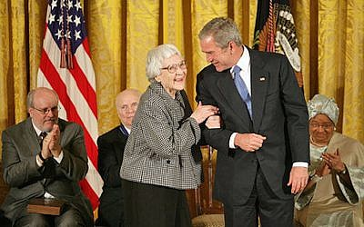 The late author Harper Lee receiving the Presidential Medal of Freedom in 2007 (White House / Eric Draper)
