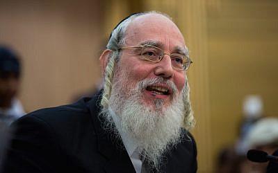 United Torah Judaism MK Yisrael Eichler. (Yonatan Sindel/Flash90)