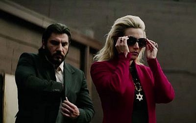 "Kate Winslet as the very Jewish mobster Irina Vlaslovhas in 'Triple 9,"" which opens in the US this February 26, 2016. (Open Road Films)"